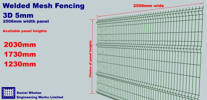 Welded Mesh Fencing 3D 5mm