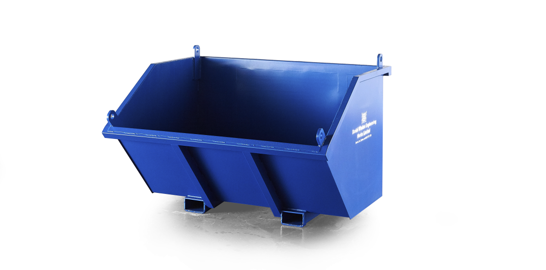 Direct Mount Skips, Daniel Whelan Engineering, Waste Material Handling