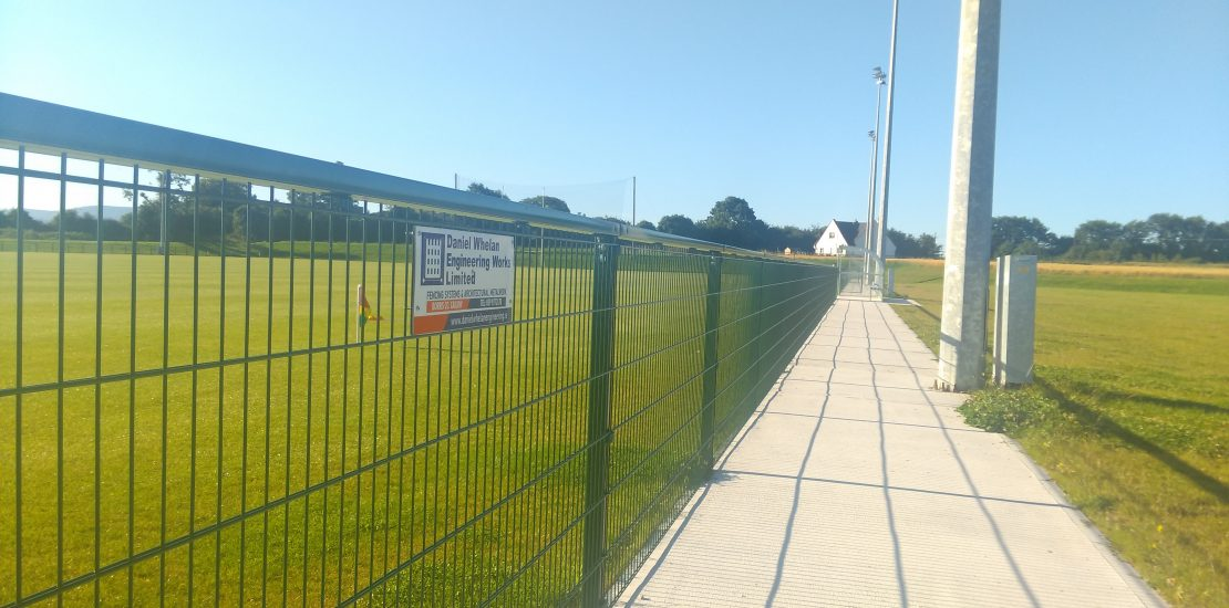 fencing, gaa fencing, spectator railing, daniel whelan engineering works ltd, irish fencing, security fencing, gaa club fencing, club fencing