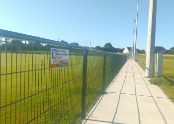 fencing, gaa fencing, spectator railing, daniel whelan engineering works ltd, irish fencing